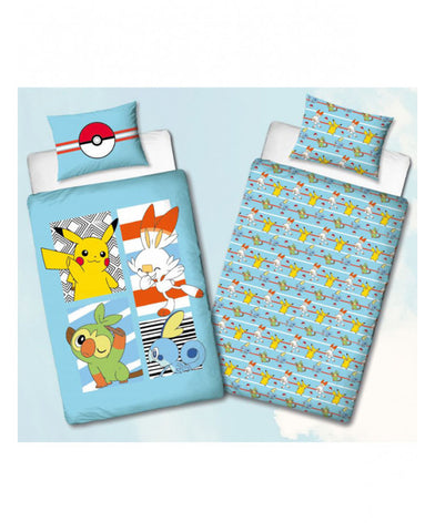 Pokémon Jump Single Duvet Cover and Pillowcase Set