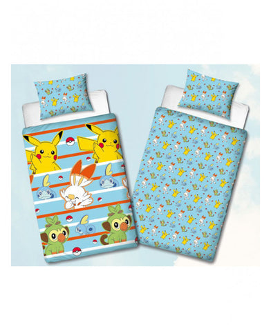 Pokémon Jump Single Duvet Cover Set - Rotary Design