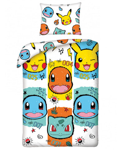 Pokémon White Single Cotton Duvet Cover Set