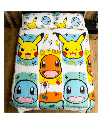 Pokémon Rocks Double/Queen Duvet Cover and Pillowcase Set