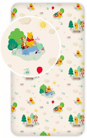 Winnie the Pooh Single Fitted Sheet