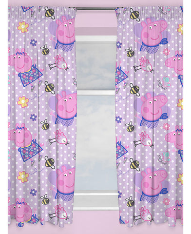 Peppa Pig Happy Curtains 66in wide (168cm) and 54in drop (137cm)