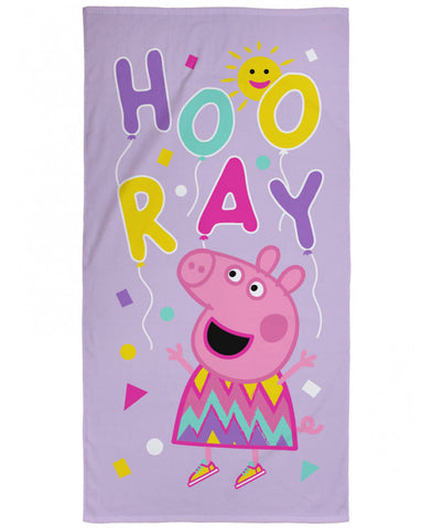 Peppa Pig Balloons Beach Towel