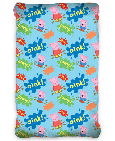 Peppa Pig Oink Single Fitted 100% Cotton Sheet