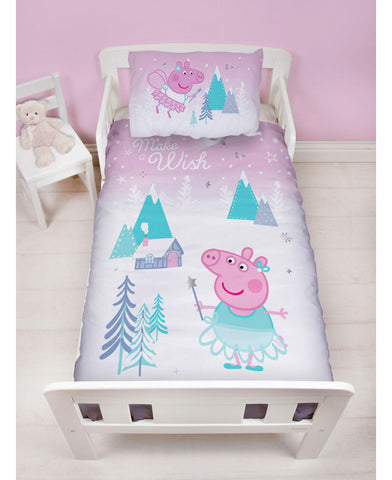 Peppa Pig Sugarplum Junior Toddler Duvet Cover Set