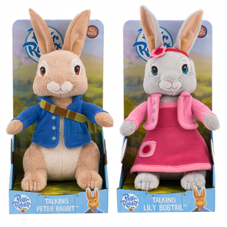 Talking Peter Rabbit and Lily Plush set