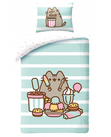 Pusheen Treats Single Cotton Duvet Cover Set