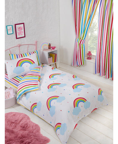 Rainbow Sky Junior Toddler Duvet Cover and Pillowcase Set