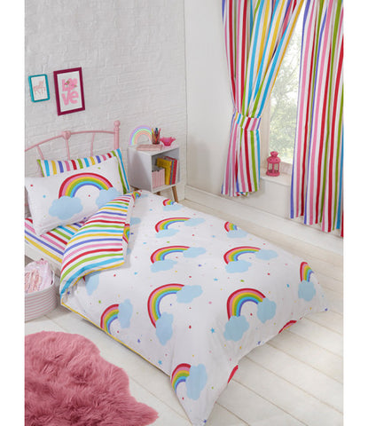 Rainbow Sky Single Duvet Cover and Pillowcase Set