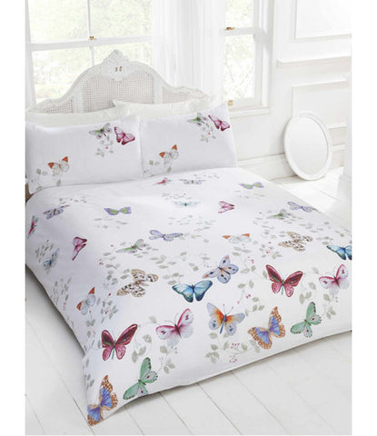 Mariposa Butterfly Double/Queen Duvet Cover and Pillowcase Set