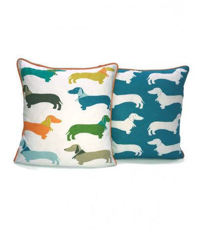 Sausage Dog Filled Cushion