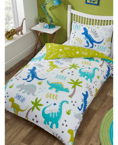 NEW* Roarsome Dinosaur Single Duvet Cover and Pillowcase Set