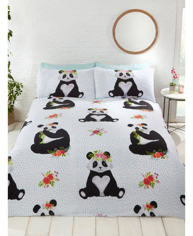 Pandas Double Duvet /Queen Cover And Pillowcase Set