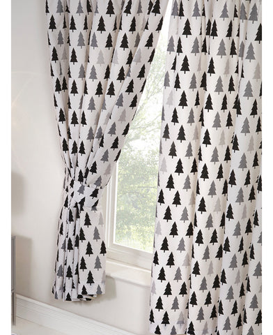 Scandi Bear Lined Curtains 72''