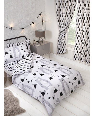 Scandi Bear Single Duvet Cover and Pillowcase Set