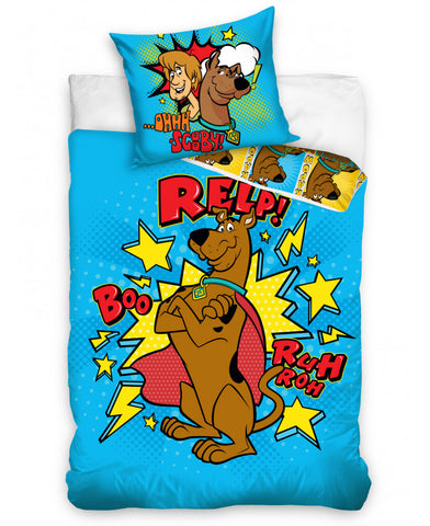 Scooby Doo Blue Single Duvet Cover Set