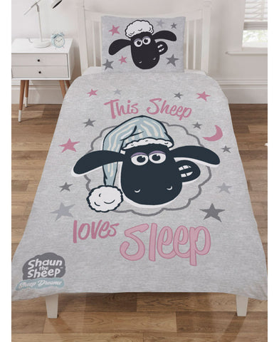 Shaun The Sheep Love Sleep Single Duvet Cover Set