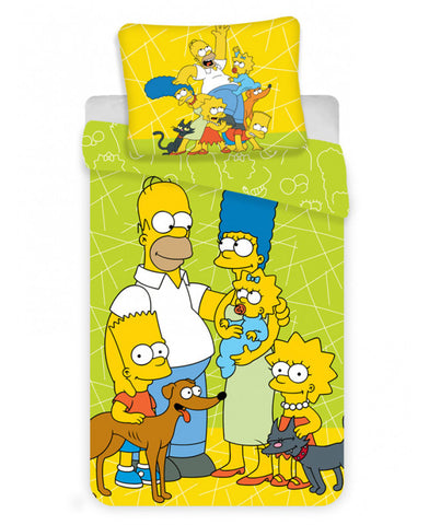 Simpsons Family Single Duvet Cover Set