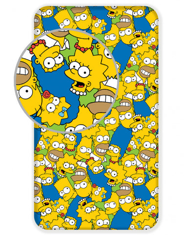 Simpsons Single Fitted Sheet