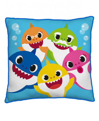 Baby Shark Family Reversible Square Cushion