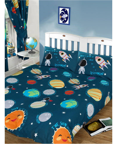 Solar System Planets & Space Double/Queen Duvet Cover Set