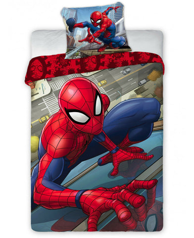 Spiderman Super Single Cotton Duvet Cover Set