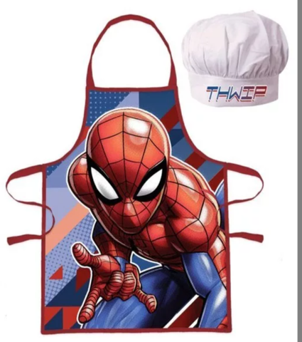 Spider Man Kids Apron and Chef Hat Set