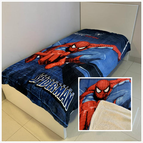 Spider man Thick Wool back Single /king single mink blanket
