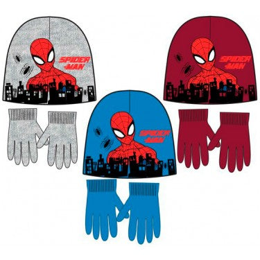 Spiderman Winter Beanie/ Hat and Gloves Set
