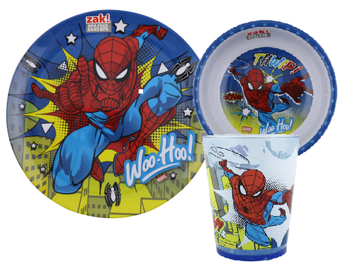 Spiderman Melamine Meal time Set