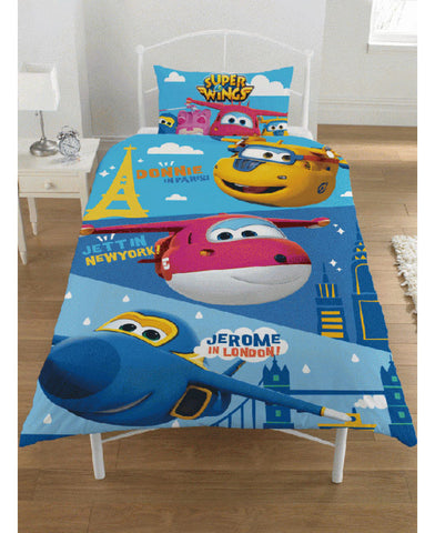 Super Wings Destinations Single Duvet Cover Set