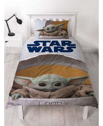 Star Wars Mandalorian Baby Yoda Single Duvet Cover Set