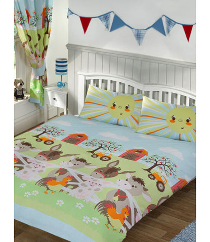 Sunshine Farm Double/Queen Duvet Cover and Pillowcase Set