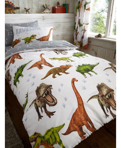 *NEW* Rowrsome Dinosaur Single Duvet Cover and Pillowcase Set