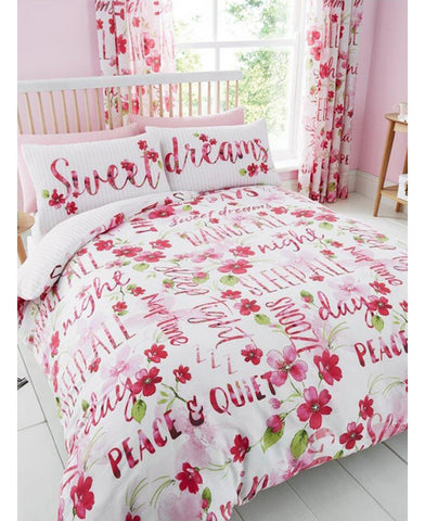 Sweet Dreams Floral Double/Queen Duvet Cover And Pillowcase Set