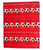 Football Fleece Blanket Throw - Red