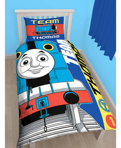 *NEW* Thomas the Tank Engine Team Single Duvet Cover Set