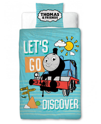 Thomas & Friends Discover Cot bed /Toddler/ Junior Toddler Duvet Cover Set