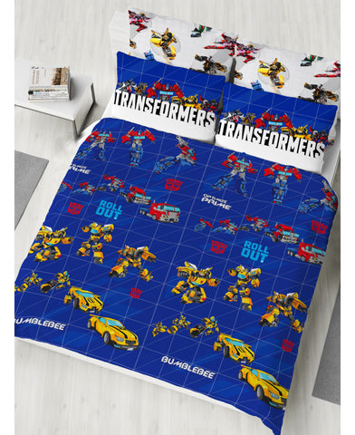 Transformers Roll Out Double/Queen Duvet Cover and Pillowcase Set
