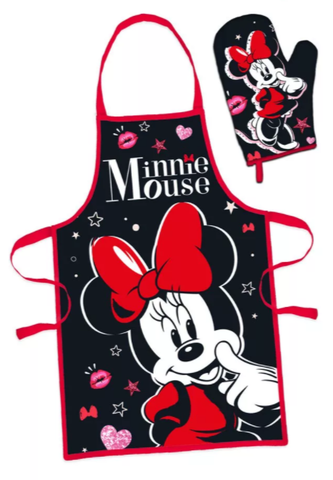 Minnie Mouse Adult Apron and Oven Mitt Set