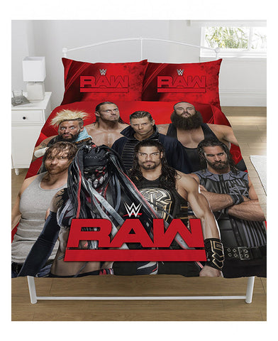 WWE Raw V Smackdown Double/Queen Duvet Cover Set