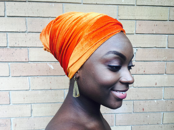 Burnt Orange - Glamorous Headwrap - Turban (FINAL SALE)