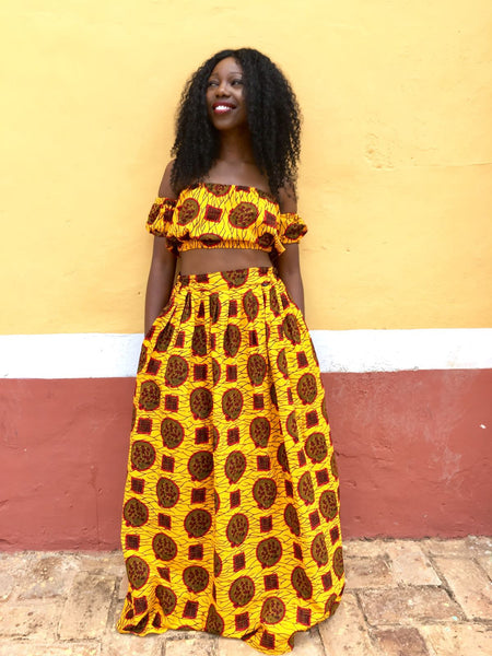 Bukky 2-piece set (Crop top and Maxi skirt)