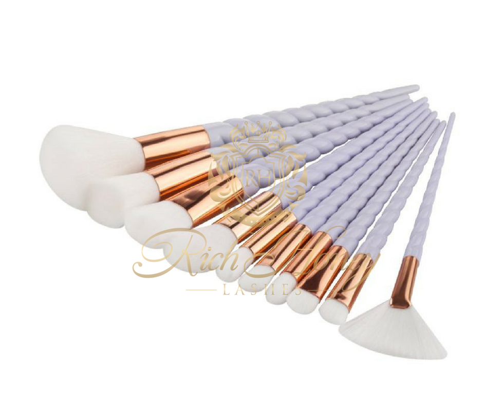 10 PIECE UNICORN BRUSH SET