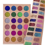 Cleof Cosmetics Waterproof Pressed Glitter Eyeshadow Palette - 24 colors