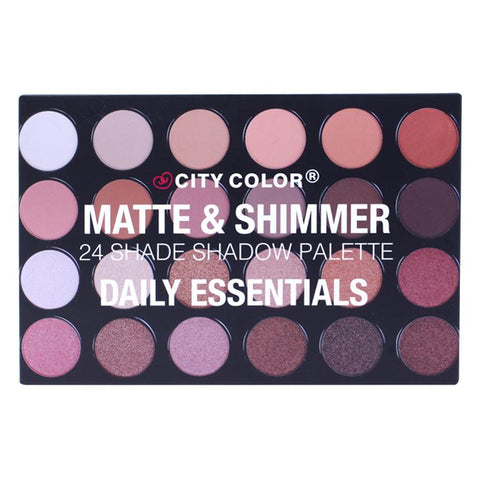 "City Color Matte and Shimmer 24 Shade Shadow ""Daily Essentials"""