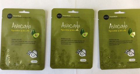 Celavi ESSENCE FACIAL MASK PAPER SHEET AVOCADO - 3PACK