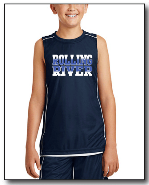ROLLING RIVER SLEEVES BBALL JERSEY- REVERSIBLE