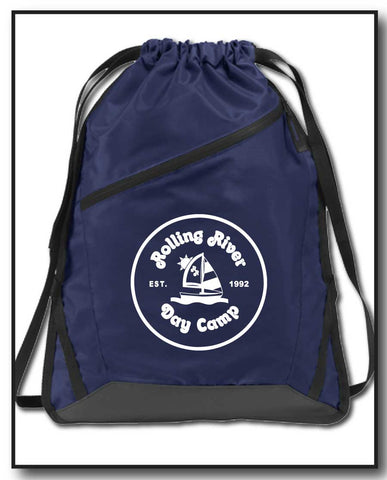 rolling river pull drawstring bag