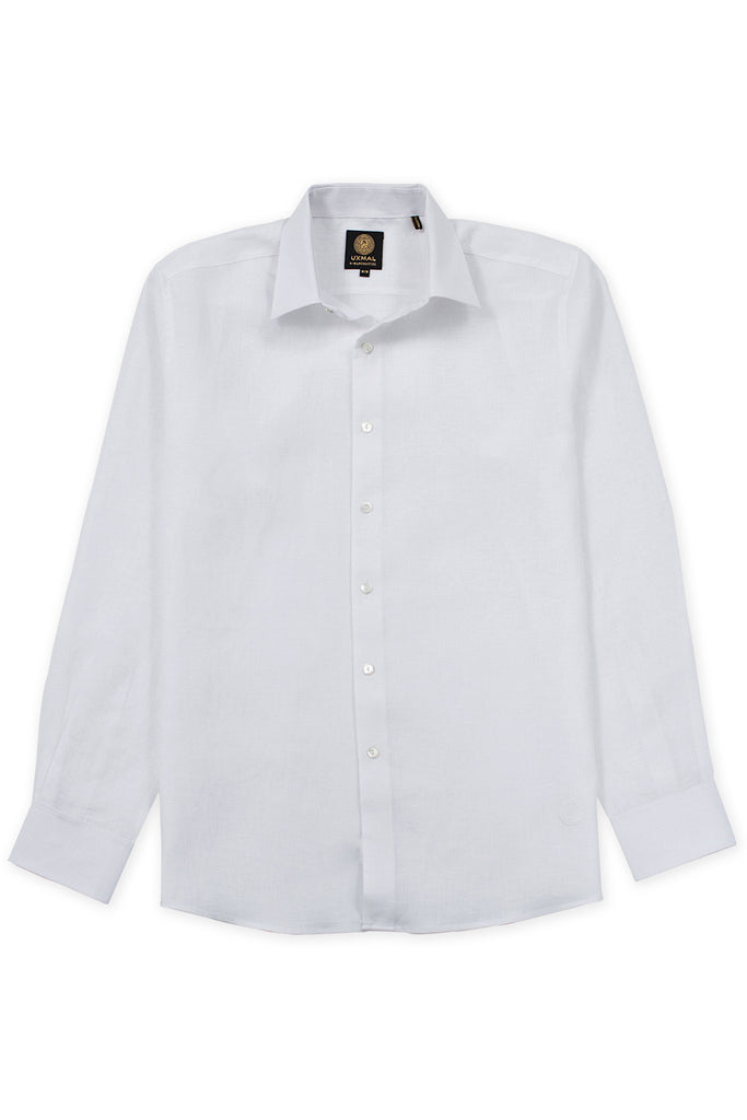 Regular corte formal wear italian linen mens camisas blanco